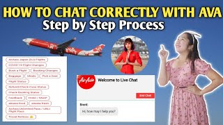 HOW TO CHAT WITH AVA OR LIVE AGENT AIR ASIA STEP BY STEP PROCESS
