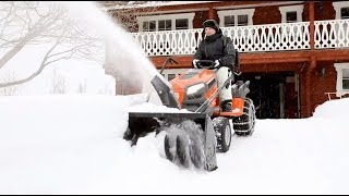 Husqvarna tractors - how to attach snow thrower