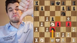 DrDrunkenstein (Magnus Carlsen) Sacrifices his Queen on Move 10!