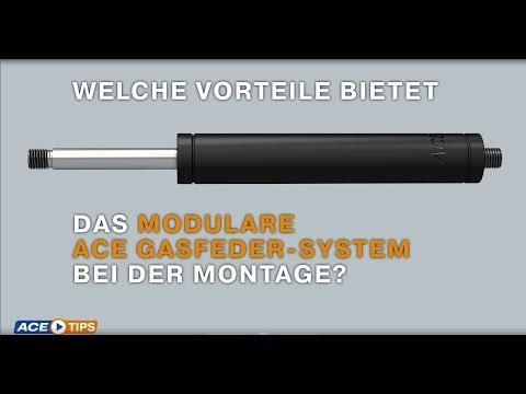 ACETips - Welche Vorteile bietet das Modulare ACE Gasfeder-System bei der Montage?