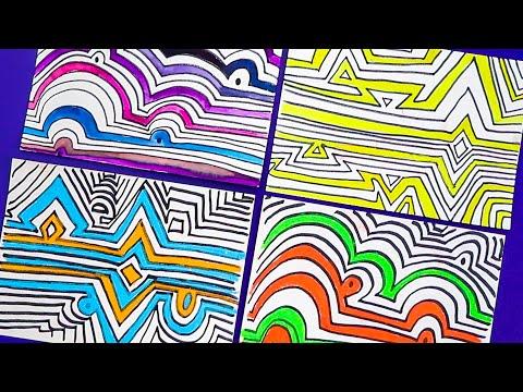 Hundertwasser – Online Learning Module 2: Contour Lines   Zart Art