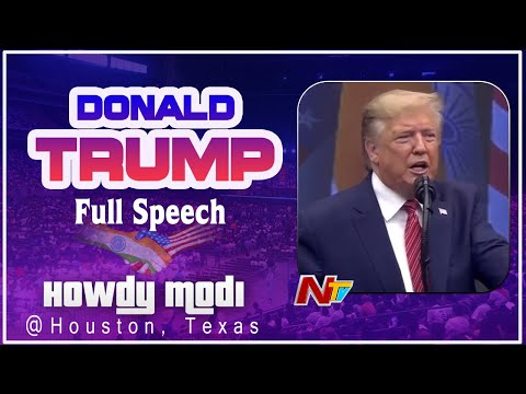 Donald Trump Full Speech in Houston | Howdy Modi in Houston, Texas