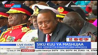 DP William Ruto makes speech during Mashujaa day celebrations