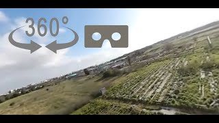 FPV Racing Drone 360 degree/VR Flight: Dare to look around you!
