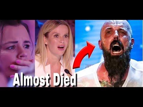 Matt Johnson almost died performing Death Escape | Judges in FEAR! | Britain's Got Talent 2018 (видео)