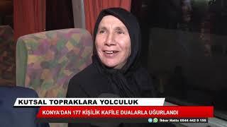 Kutsal yolculuk sürüyor! Konya'dan 177 kişilik kafile dualarla uğurlandı