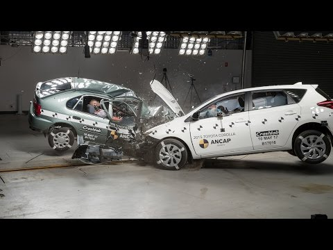 1998 Toyota Corolla Vs 2015 Toyota Corolla (Auris) - Crash Test