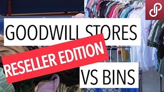 GOODWILL BINS VS STORES - Battle Of The Bins For Reselling Clothes Online Poshmark eBay GW Outlet
