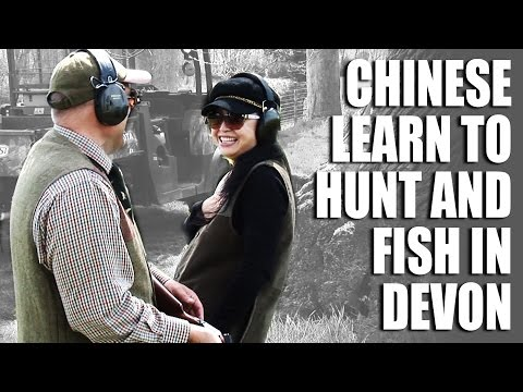 Chinese learn to hunt and fish in Devon