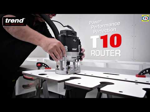 "Trend T10 1/2"" Variable Speed Router"