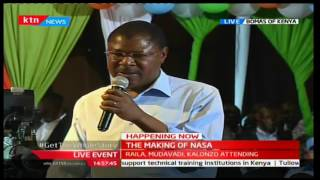 Moses Wetangula gives the following conditions to the government or they will go back to the streets