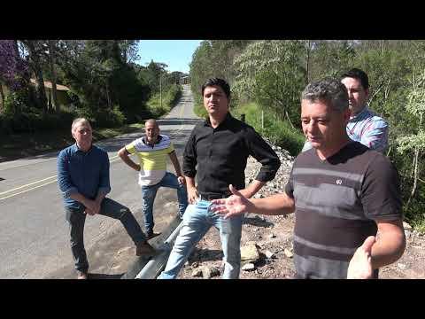 Prefeito Arizinho e vereadores fiscaliza a Estrada da Barrinha e fala sobre o presente de grego que São Lourenço ganhou com essa estrada.