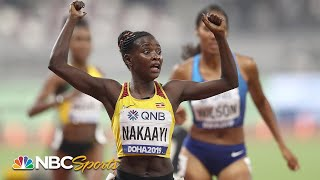 Uganda's Halimah Nakaayi holds off USA's Rogers and Wilson in 800m final upset | NBC Sports