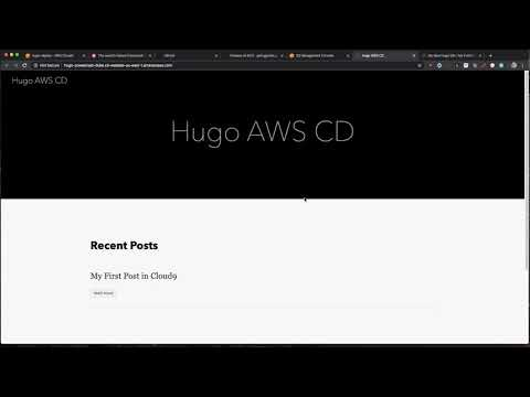 AWS Hugo Continuous Deliver!