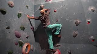 Michi & Björn are back / really nice red slab @Bouldergarten 27.08.2020 by Bouldering Berlin