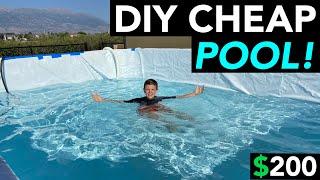 DIY Swimming Pool - 9 x 14 Easy & Cheap!
