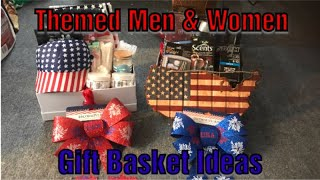 Themed Men & Women DIY GIft Baskets. Stockpile Items Dollar Tree & 99 Cents Only Store