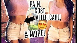 MY BELLY BUTTON PIERCING: DID IT HURT & HOW I CONVINCED MY PARENTS
