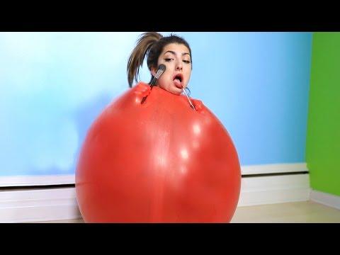 Giant Balloon Makeup Challenge!