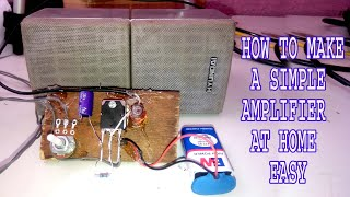 How To Make Audio Power Amplifier Using D-718 IC Audio Amplifier Easy Make Tutorial