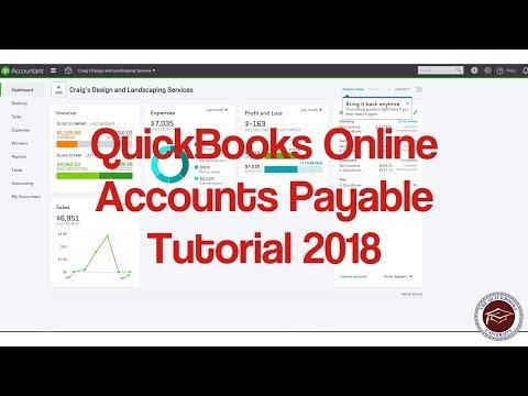 Quickbooks Online Accounts Payable Tutorial 2018 - Understanding ...