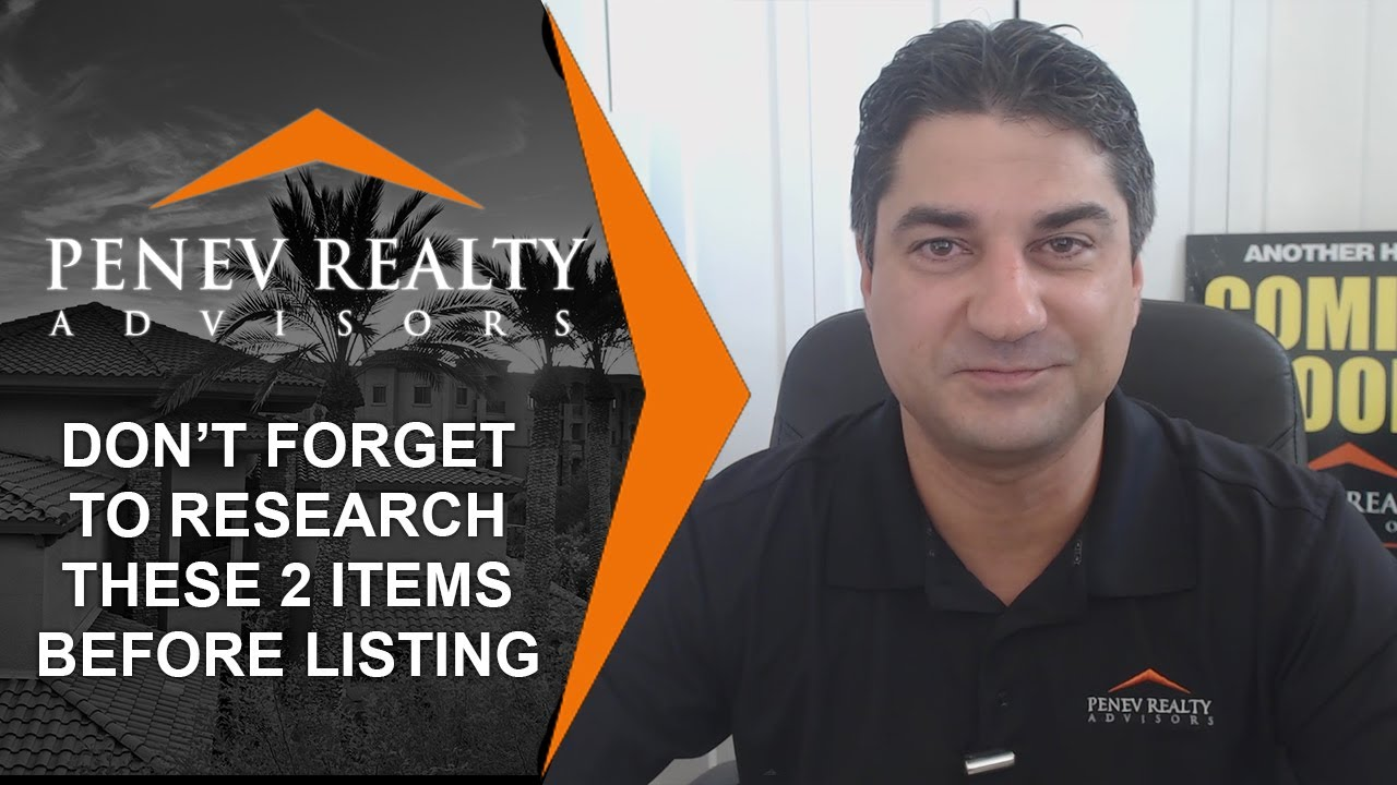 2 Things You Shouldn't Forget to Research Before Listing