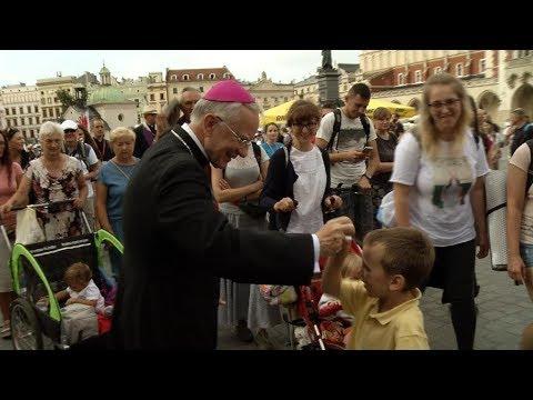 Pożegnanie pielgrzymów w Krakowie