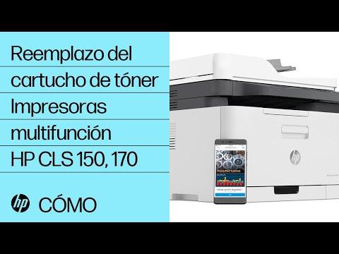 Reemplazo del cartucho de tóner | Impresoras multifunción HP color laser serie 150, 170 | HP