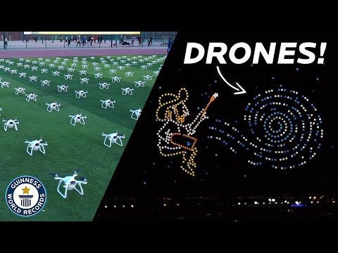 Spectacular Record Breaking Drone Display