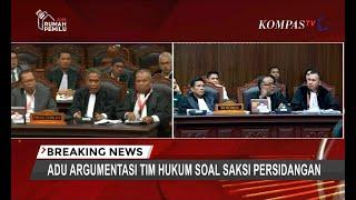 Momen Adu Argumentasi Tim Hukum Jokowi dan Prabowo Soal Saksi Persidangan