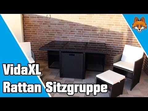 Rattan Gartenmöbel - die besondere Rattan Sitzgruppe von VidaXL 👑