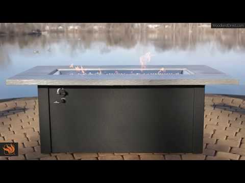 The Cedar Bluff Linear Gas Fire Pit Table