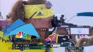 Sweden's Oeberg outshoots Germany's Dahlmeier for 15km Biathlon gold