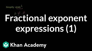 Fractional Exponent Expressions 1