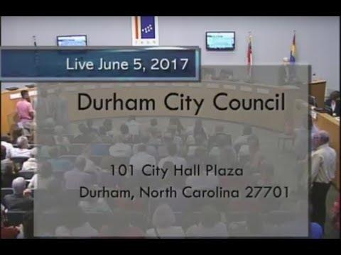 Durham City Council June 5, 2017