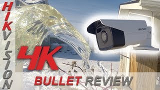 Hikvision 4K Bullet Security Camera Review – Unboxing, Day & Night Footage