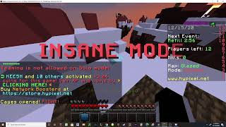 Playing Minecraft skywars with Miguel on Hypixel.