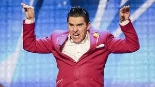 Britain's Got Talent S08E06 Ricky K's Comedy Love Story Makes Simon LOL