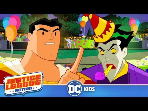 Justice League Action | Clown Party | DC Kids