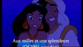 Aladdin - A Whole New World - French + Translation (Ce rêve bleu)