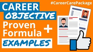 Career objective in resume | With examples  | How to write a career objective for your resume or CV