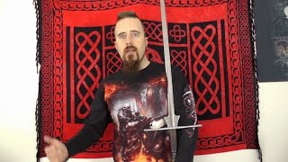 How did people carry large two-handed swords?