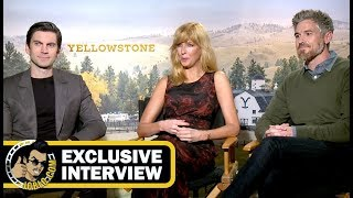 Wes Bentley, Kelly Reilly & Dave Annabelle YELLOWSTONE Interview! (JoBlo.com Exclusive)