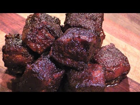 Pork Belly Burnt Ends on Lone Star Grillz