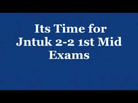 JNTUK  2-2 1st mid online bits 2015 Original