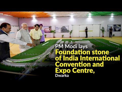 PM Modi lays foundation stone of India International Convention and Expo Centre, Dwarka