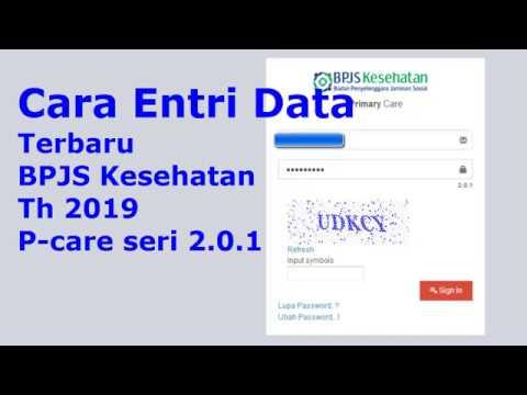 Cara Entri Data dan Pelayanan FKTP Terbaru Pcare 2.0.1