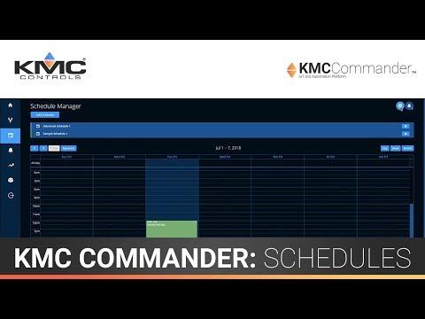 KMC Commander: Schedules
