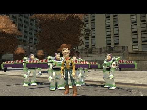 Watch Woody From Toy Story Sling Hadoukens Around Liberty City