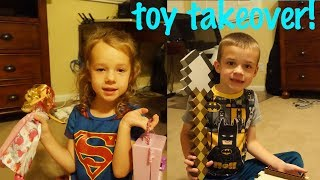 TOY TAKEOVER! Staying Up Late Opening Toys 😋 No Sleep Just Barbie  & Minecraft with DisneyCarToys
